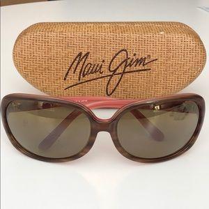 Maui Jim Rainbow Falls sunglasses pink and brown
